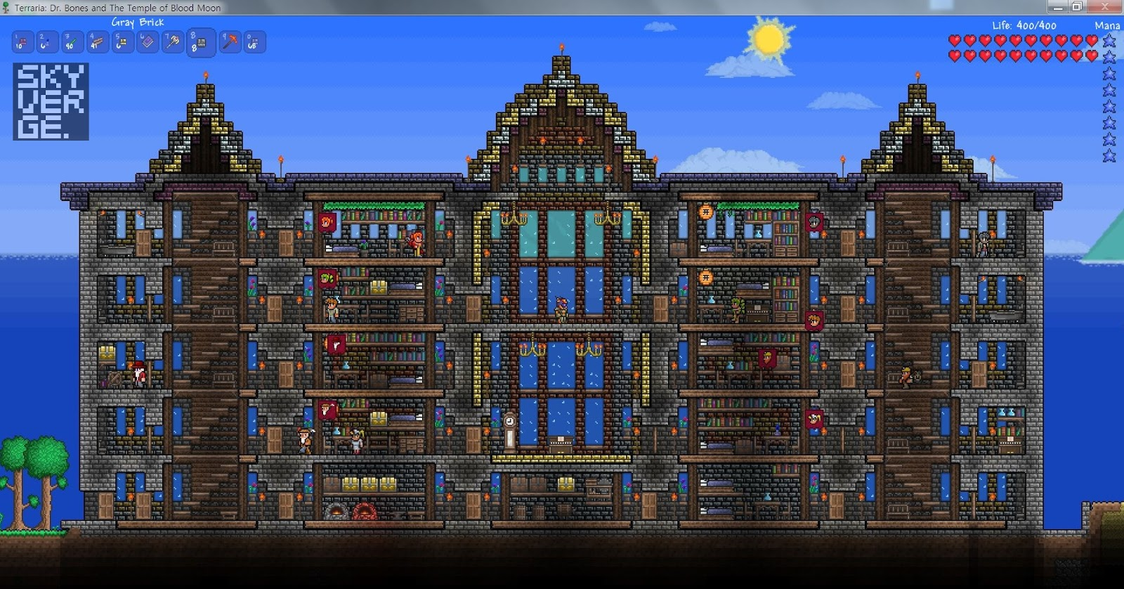 Terraria npc house terraria five story