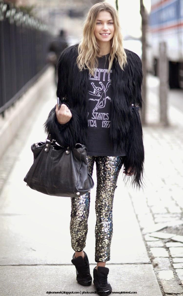Jessica Hart Street Style Snapshot - Be a Rockstar