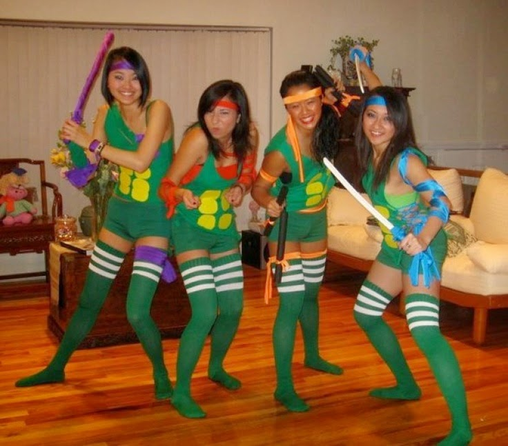 Homemade TMNT Ladies alloween Costumes
