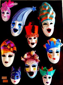 Mascaritas de carnaval.