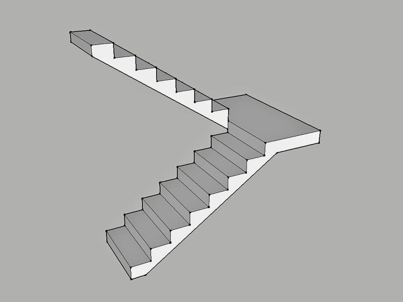 Tutorial membuat tangga sketchup