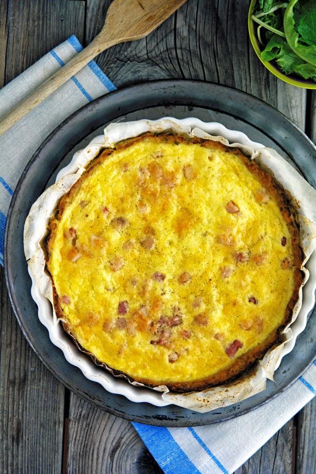 Cauliflower Crust Quiche Lorraine