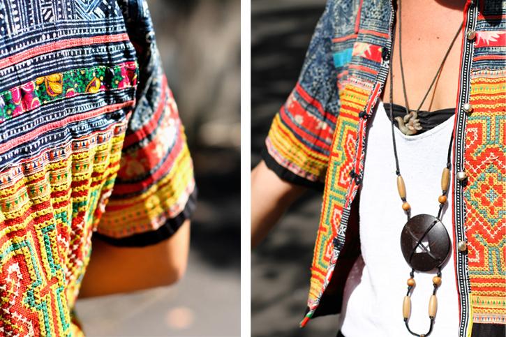 Hmong Tribal Jacket, ethnic style, wandering style, Samantha Davis, tribal fashion, Vietnam ethnic dress