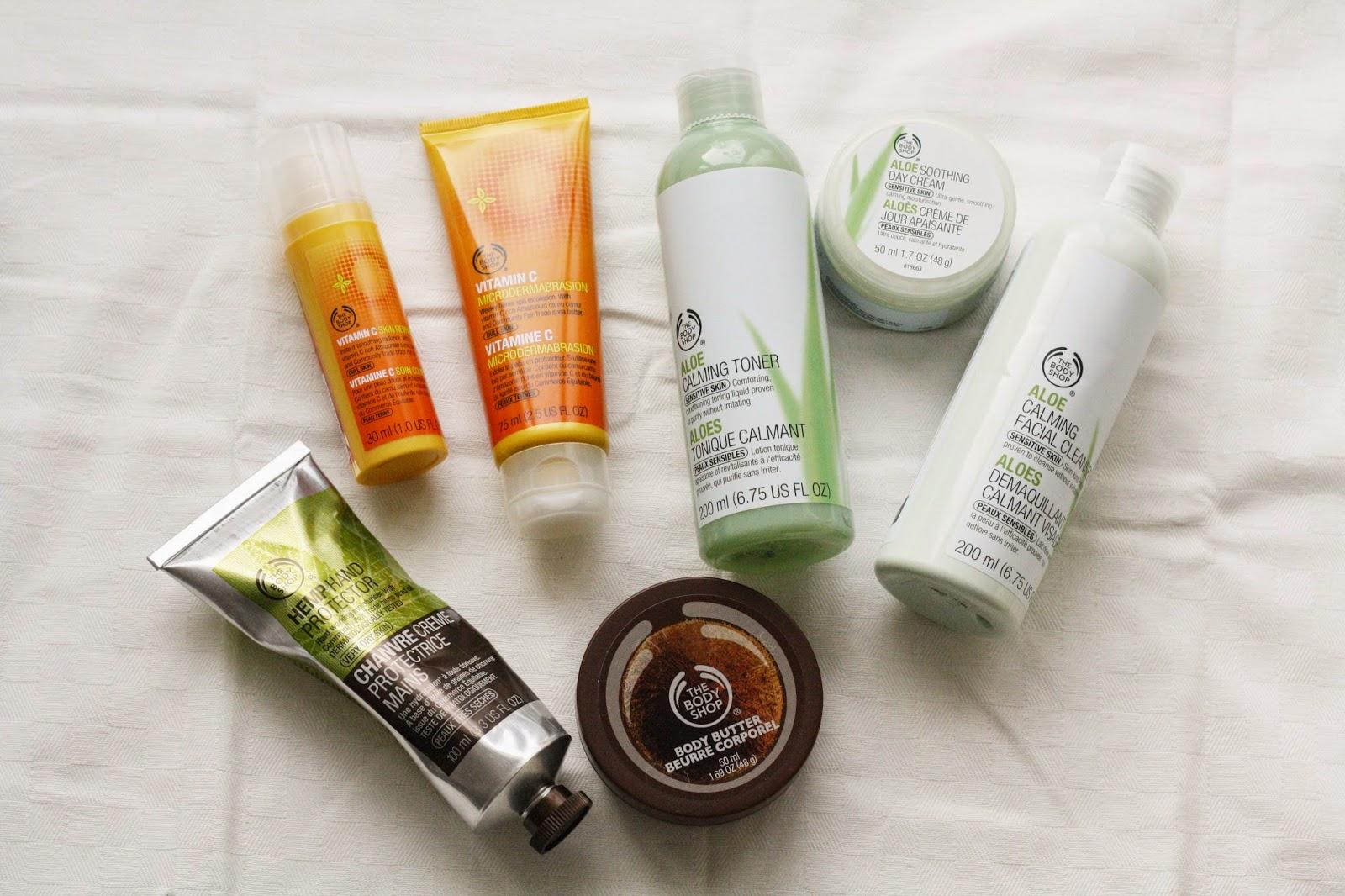 The Body Shop Vitamin C Aloe Range