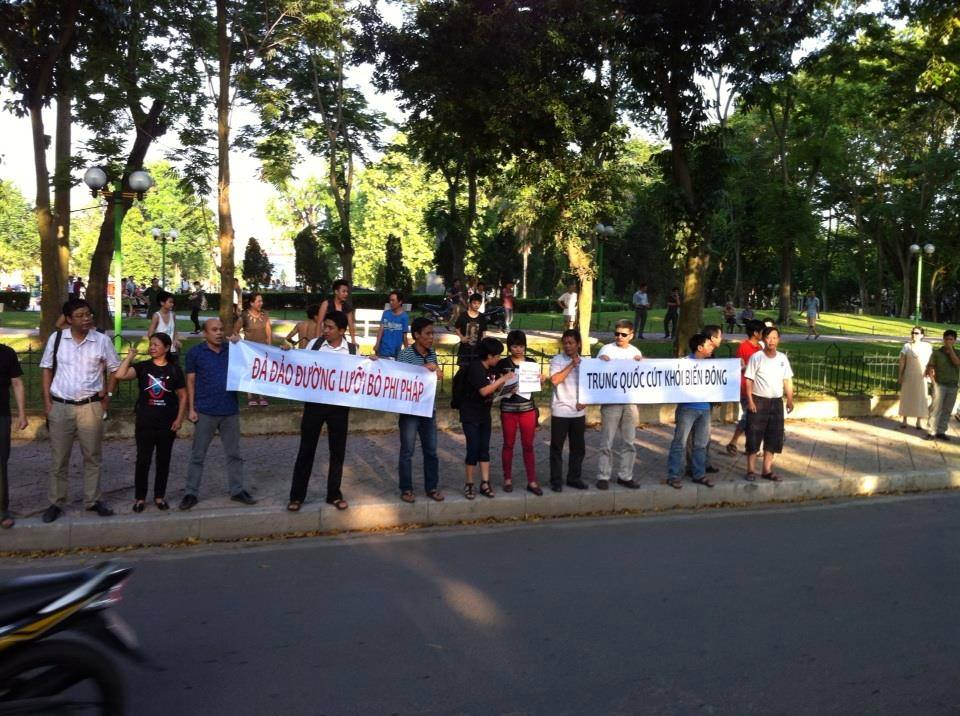 10338855 10152343082198808 3344062675057999301 n Preview of Anti China Protest in Front Of Chinese Embassy in Hanoi