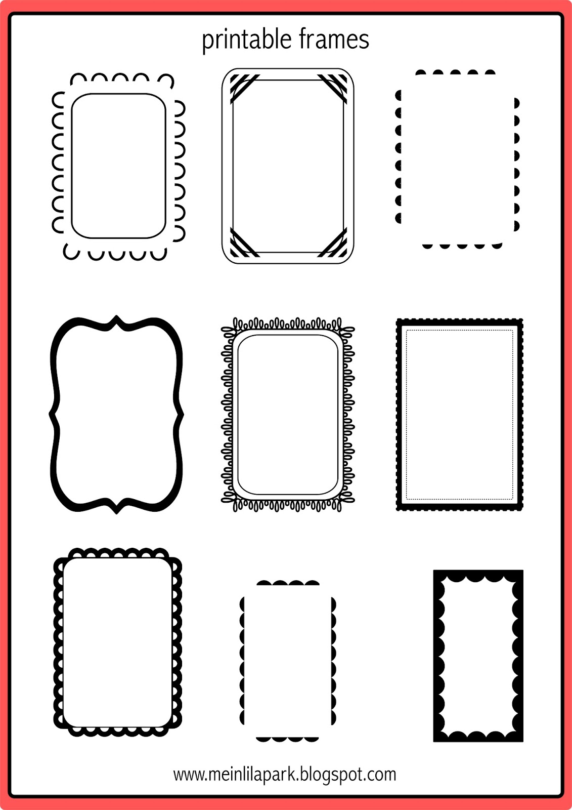 Ambitious image for picture frame template printable