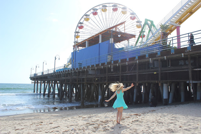 Ashley Brooke at the Santa Monica Pier, California