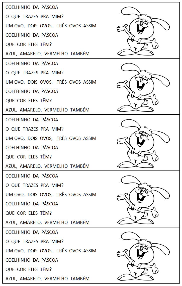 Atividades de Páscoa - Coelhinho da Páscoa - Música do Coelhinho