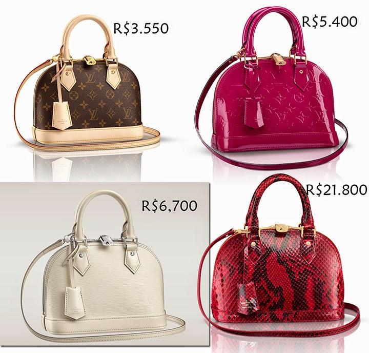5edd18911e3 Desejando  Louis Vuitton Alma BB