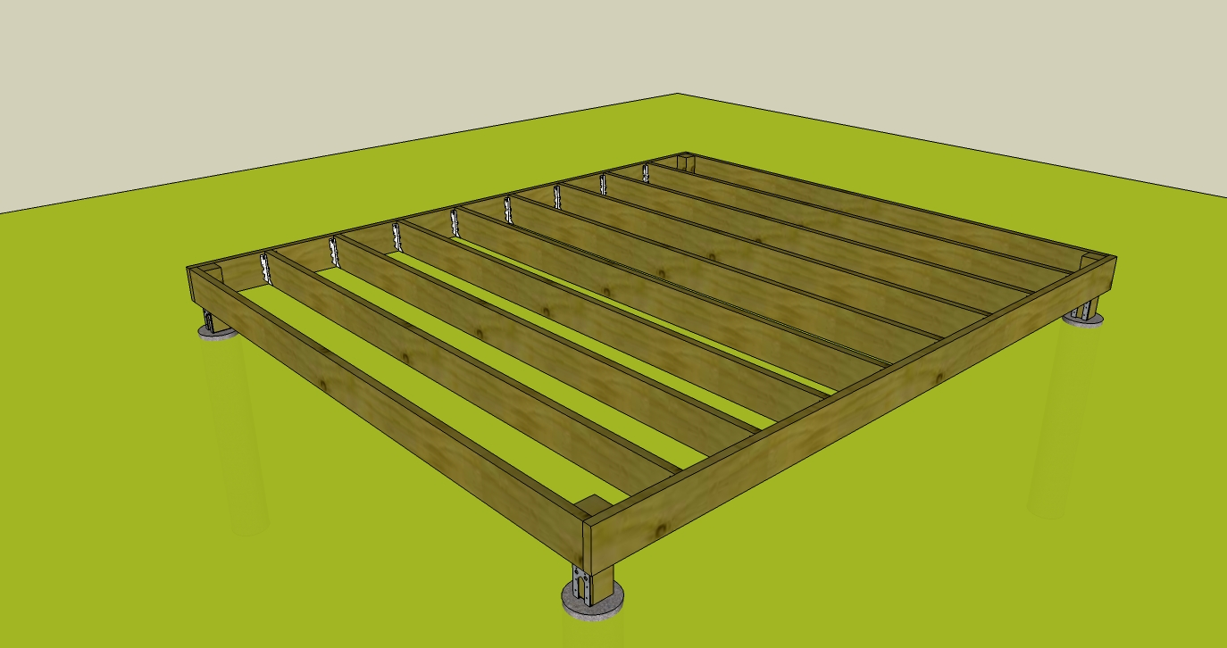Building a shed base with wood ~ ksheda