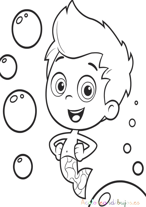 Free Coloring Pages Of Bubble Guppies Nonny Gil Guppies Coloring