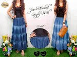 Jeans Washed Skirt 08654 HABIS
