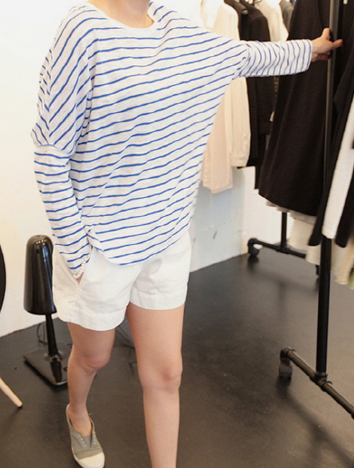 Loose Stripe Long Sleeved T-Shirt