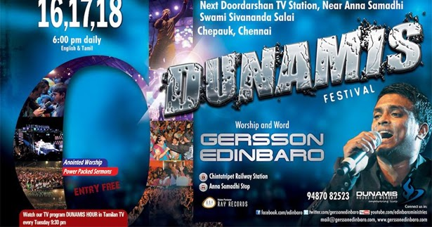 festival with gersson edinbaro chennai   tamil christian online