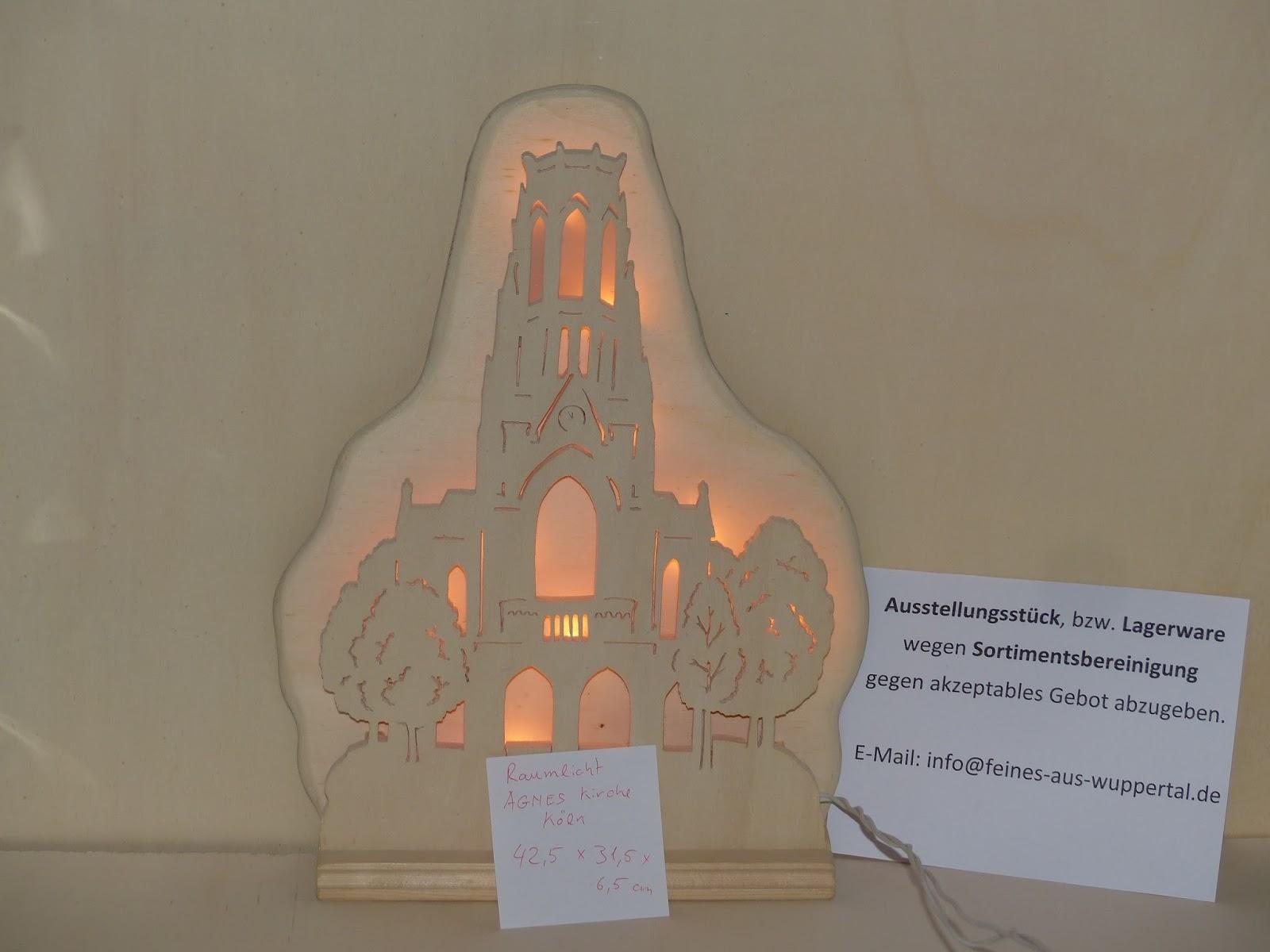 St. Agnes Kirche Köln als beleuchtetes Wandbild aus Holz ...