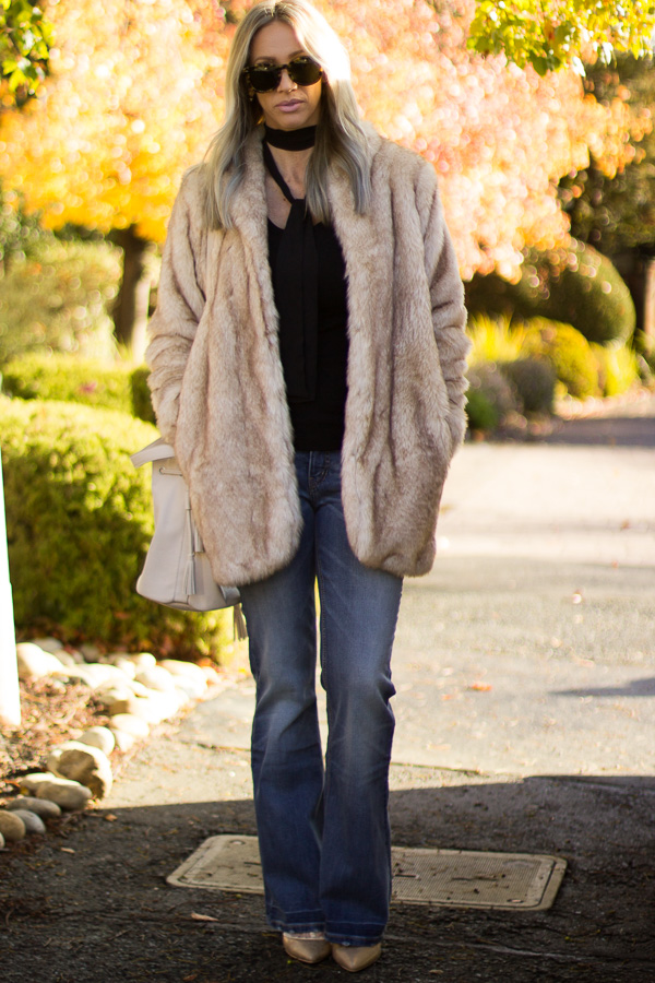 faux fur coat style