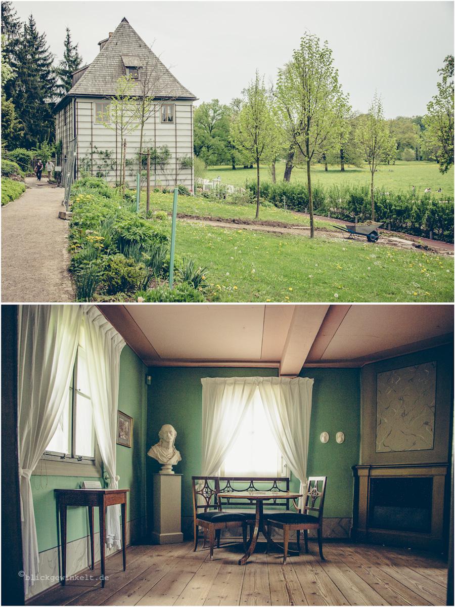 Goethes Gartenhaus, Außen- und Innenansicht