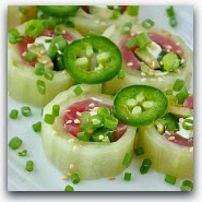 Homemade Cucumber Roll Sushi