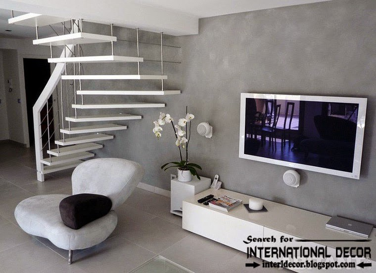 minimalistic stairs design 2015 and staircase with metal stair railings for modern interior