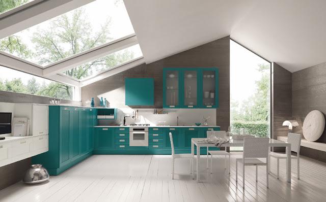 Inspiradoras cocinas turquesa - Febal cucine spa ...