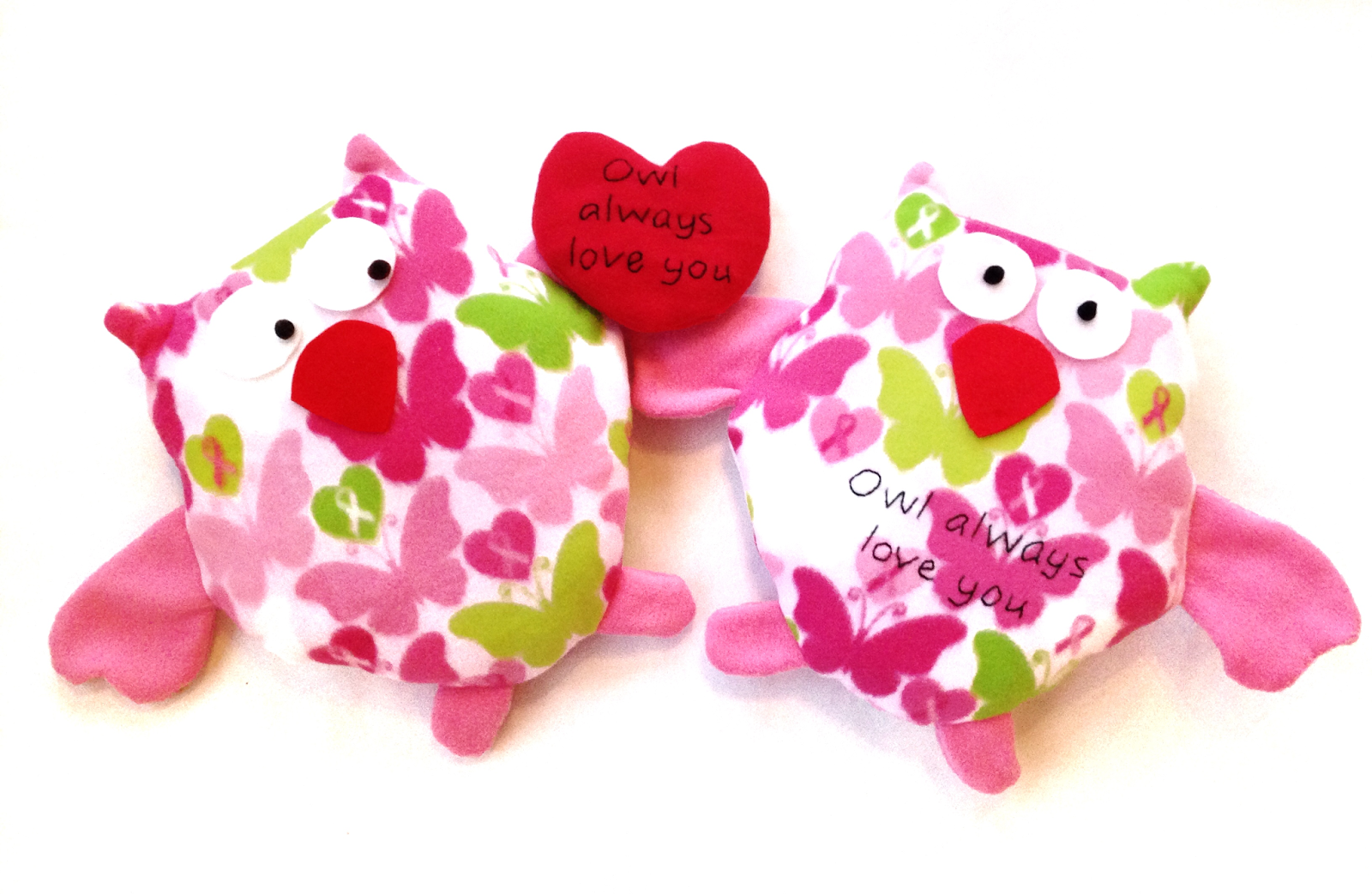 plush animal valentines day sewing pattern