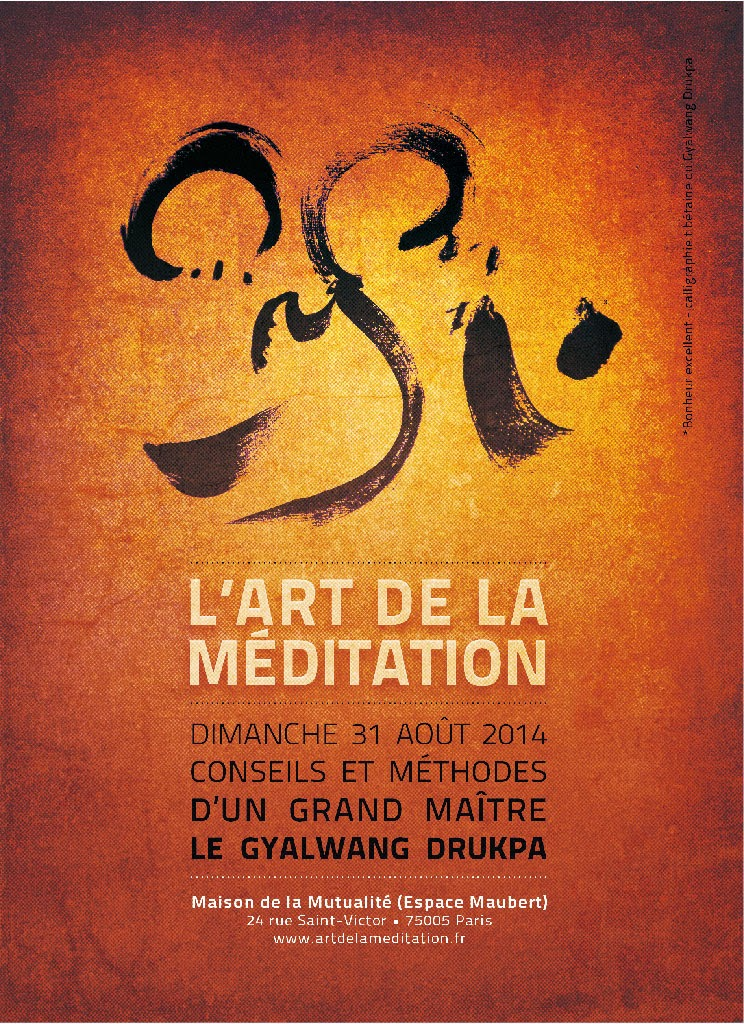 l'Art de la Méditation. Gyalwang Drukpa.