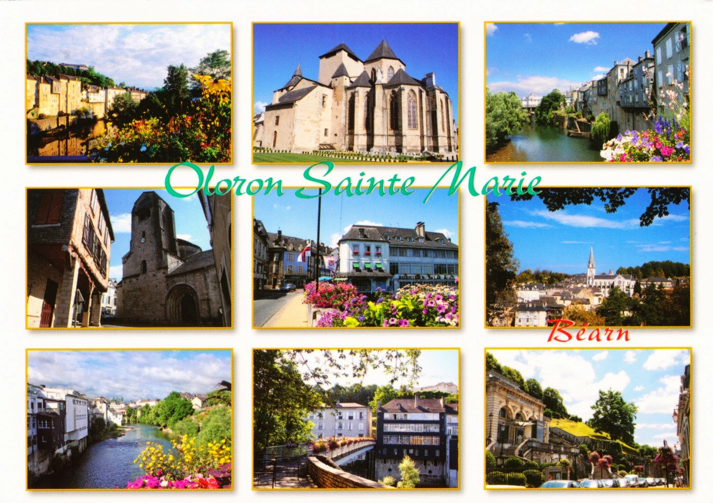 france, postcard, oloron sainte marie