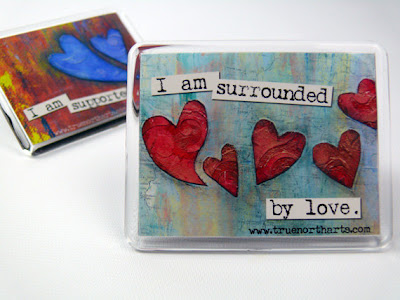 affirmation magnet says I am surrounds by love