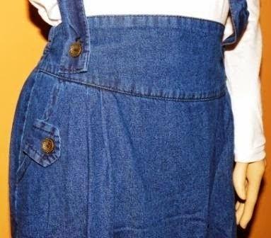 Rok Jeans Panjang dengan Tali Penarik