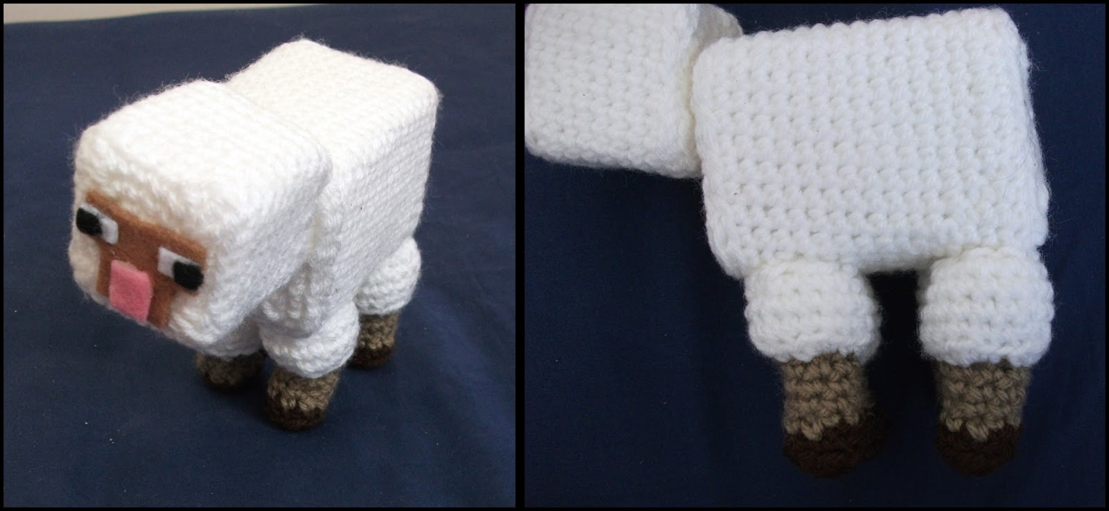 Amigurumi Minecraft Pig : Amies Ami: Minecraft Pig, Sheep and Cow Pattern