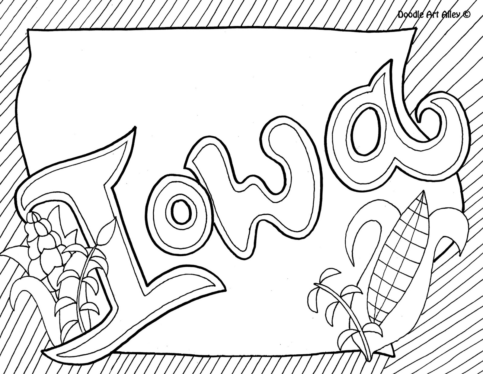 iowa coloring pages - photo#3