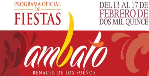 Programa completo Eventos Fiestas Carnaval de Ambato