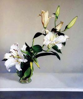 Cuadros Hiperrealistas con Flores Oleo