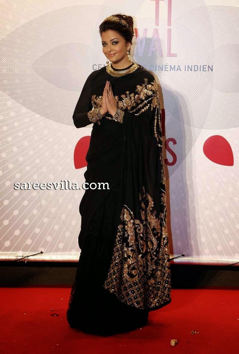 Aishwarya Rai Braid Bun Hairstyle