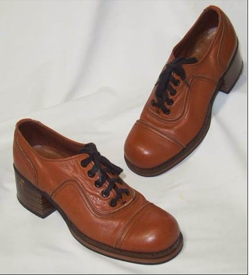 Vintage 70's men's platform shoes
