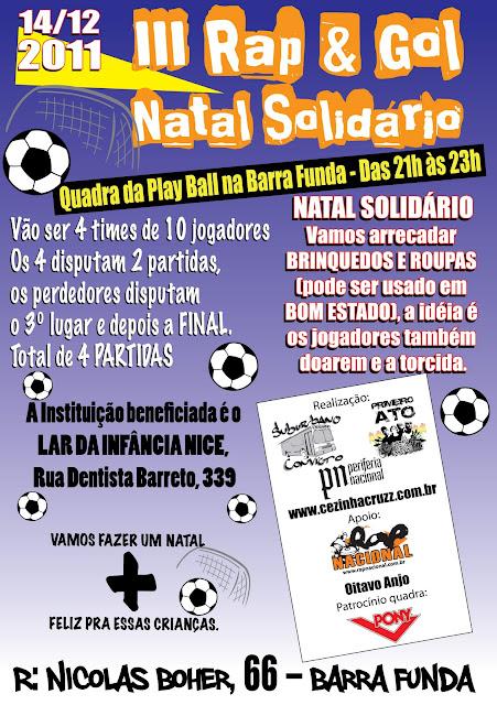 III RAP & GOL SOLIDARIO DE NATAL