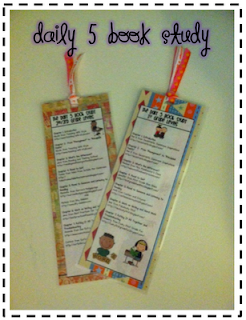 photo of daily 5 book study bookmark teaching with style