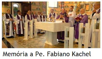 Missa de sétimo dia homenageia padre Fabiano Kachel