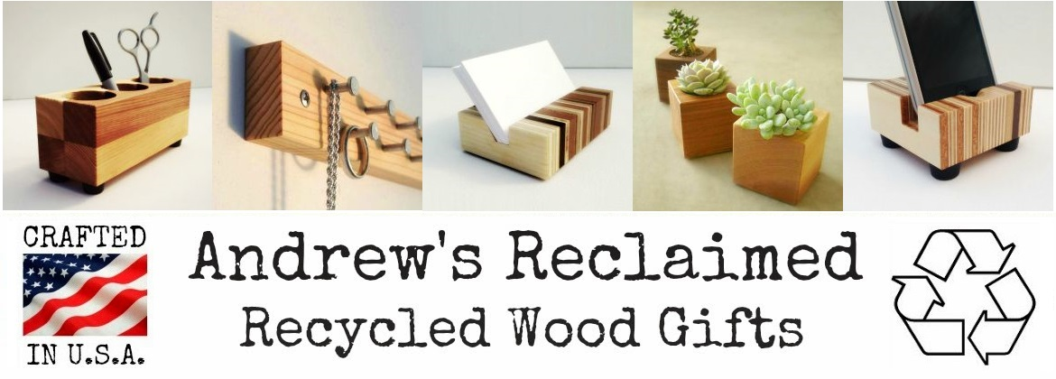 recycled wood gifts and home decor