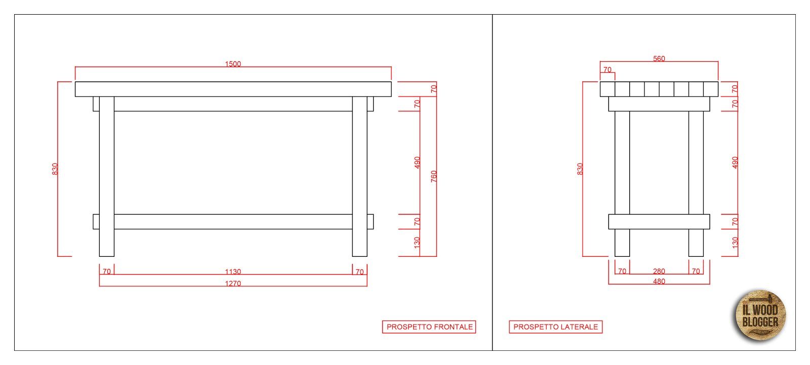 Progetto realizzare un tavolo da lavoro il wood blogger for Banco da falegname progetto