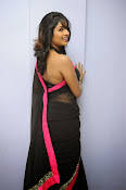 Isha Ranganath glam pics in saree-thumbnail-20