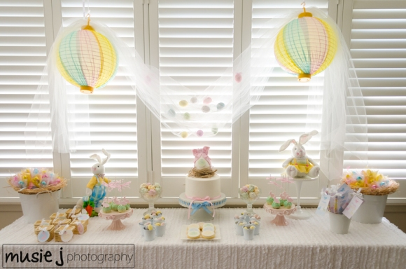 Easter Desserts Table Party Ideas and Bunny Cake Pop Tutorial