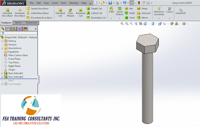 THREADS IN SOLIDWORKS sweep method