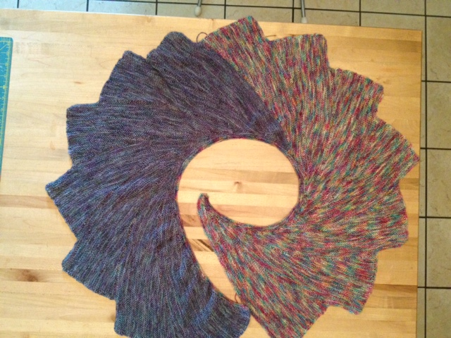 Knitted Pattern For Wingspan Scarf : Heidi- NeedleArtsetcetera: Wingspan knitted Shawl scarf
