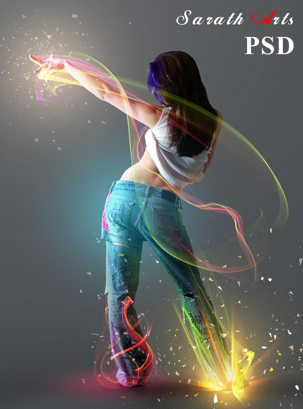 Light Effect Psd Free Download Girl Light Effect Psd