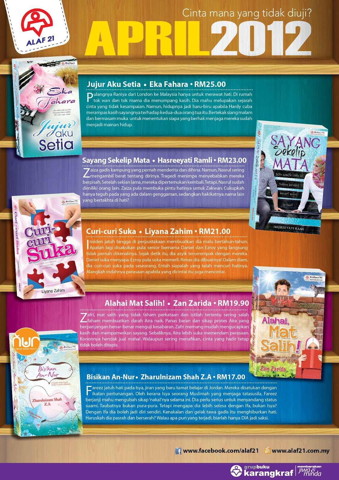 Novel Terbaru Alaf 21 April 2012