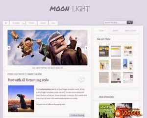 Plantilla Moonlight gratis