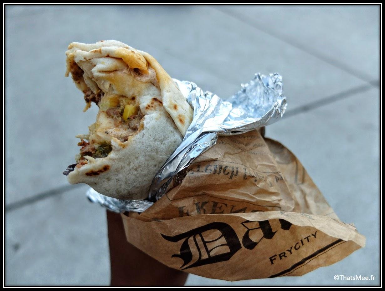 Foodtruck  mexicain burritos viande maïs Señor Boca streetfood Paris Bibiliothèque françois Mitterand MK2