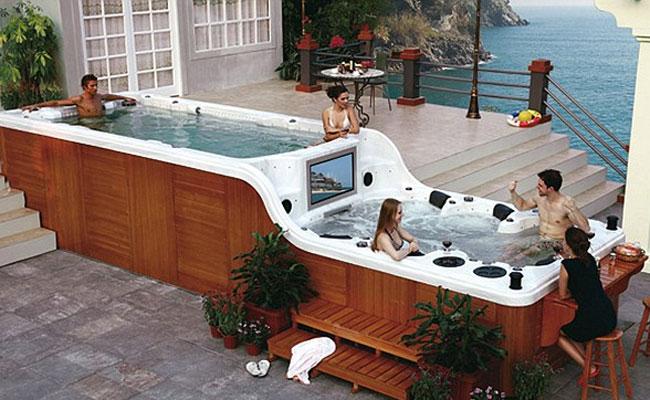 ideias para decorar 2013 Decoração de banheiros com banheira