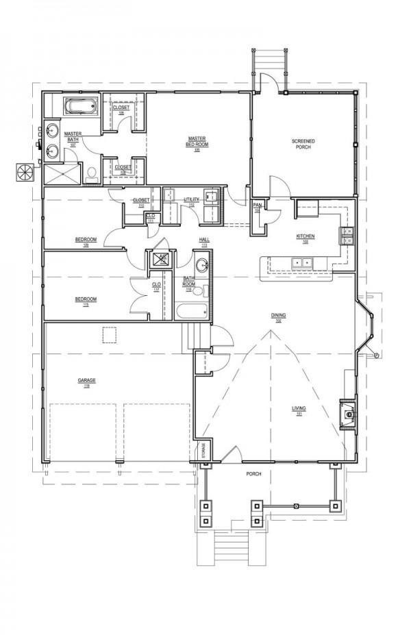 Planos de casas modelos y dise os de casas planos de for Casa de 40 metros cuadrados